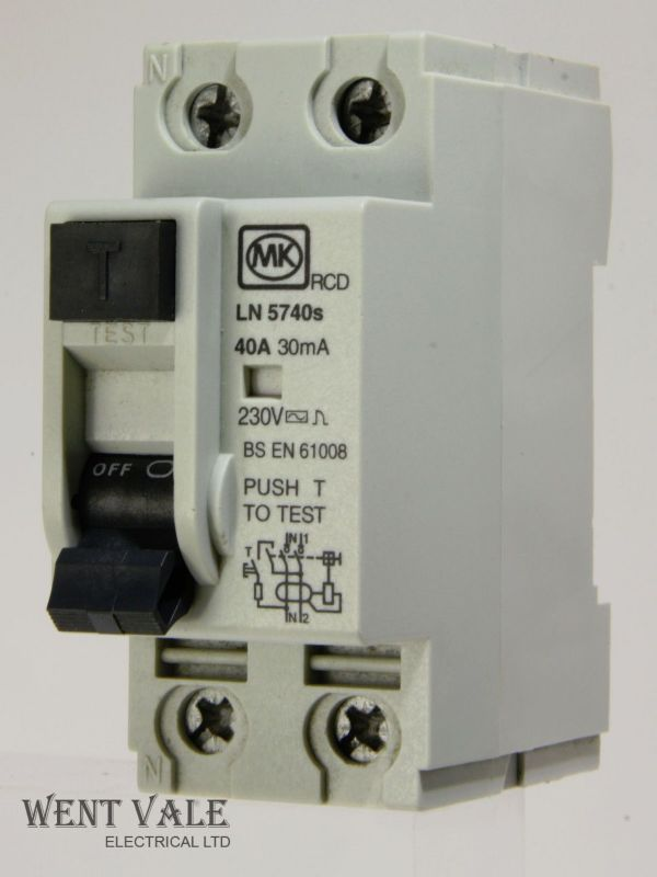 MK Sentry - LN5740s - 40a 30mA Double Pole RCD